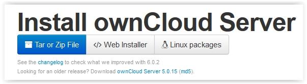 owncloud web installer