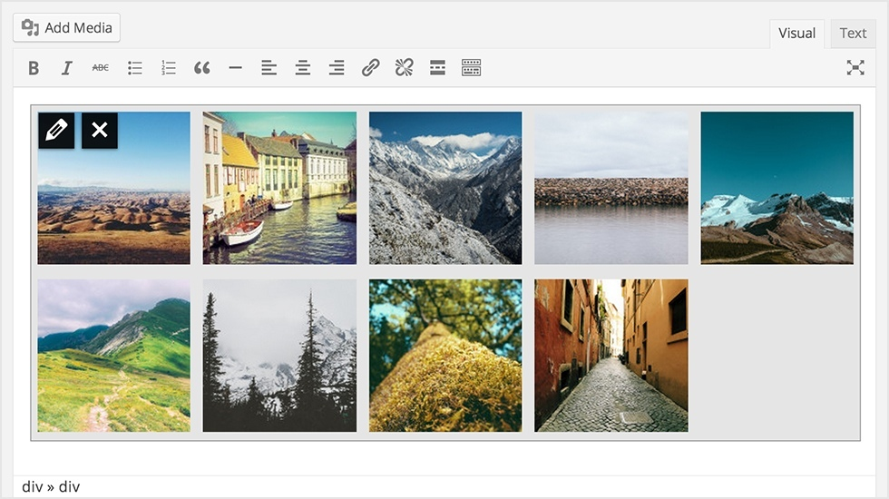 WordPress 3.9 Gallery
