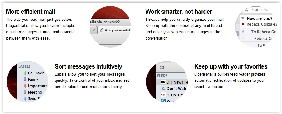 Opera Mail Feature