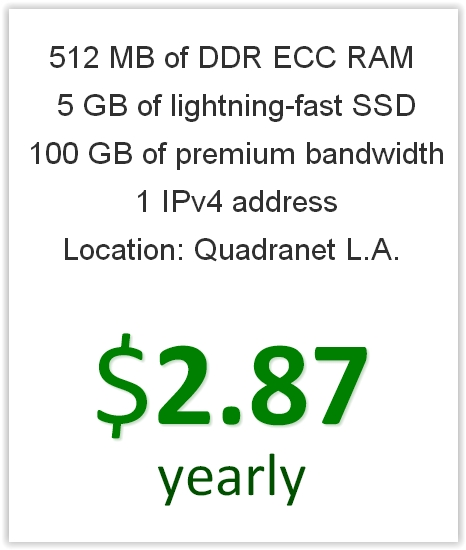 XVM Labs Cheapest Yearly VPS