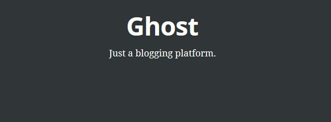 Ghost Welcome Screen