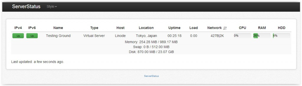 Cara Install ServerStatus by BotoX