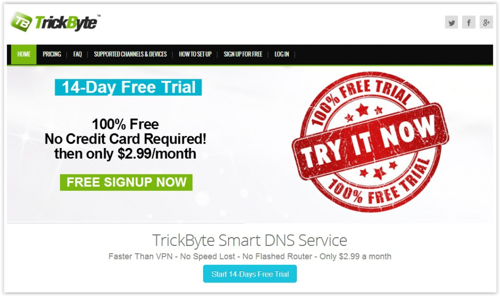 TrickByte Smart DNS Service Review