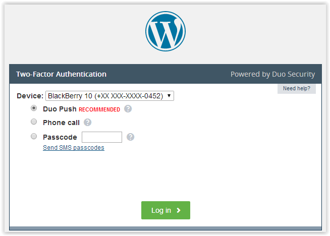 Duo Security Review - WordPress