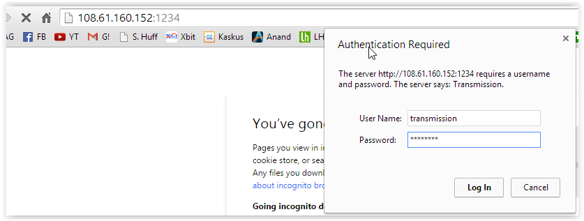 Cara Install Transmission Web GUI di Debian atau Ubuntu Server